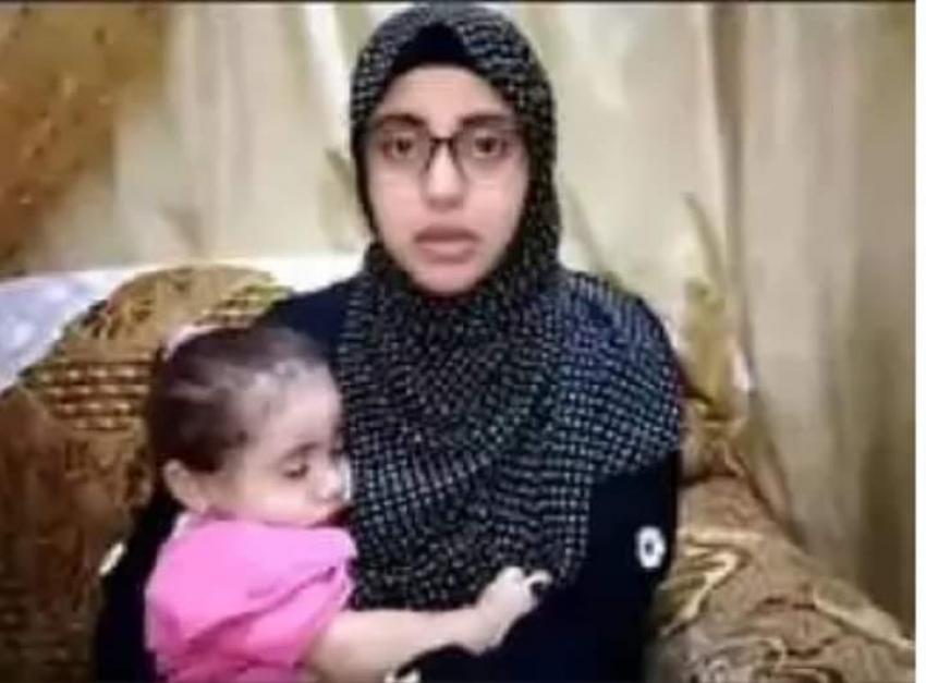 زغاريد بمنزل امل ضحية الاغتصاب بعد القبض علي المتهم وإثبات نسب ابنتها بالدقهلية