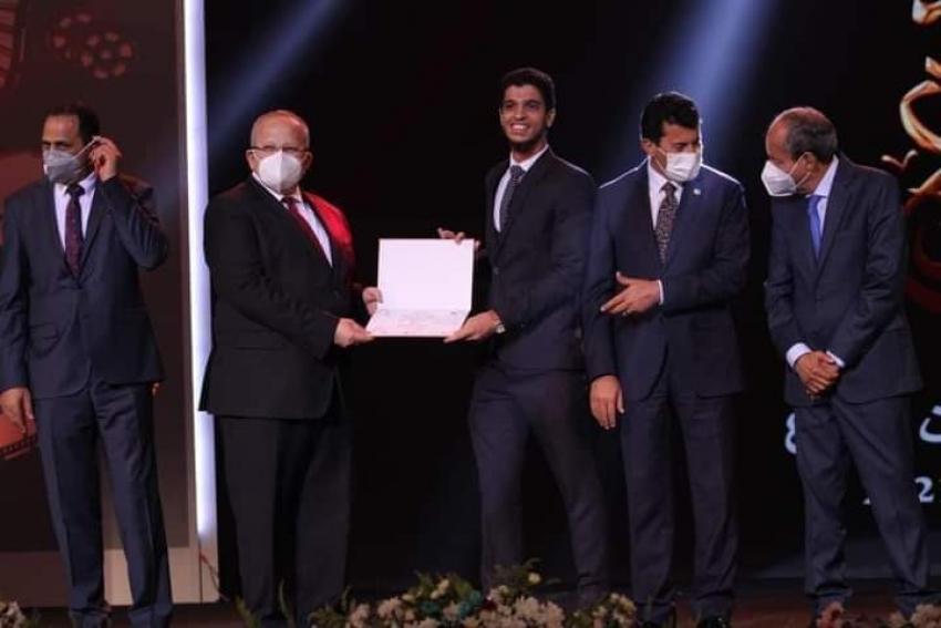فوز جامعة السويس بالمركز الأول في مسابقة الطالب المثالي بمهرجان إبداع ٢٠٢١ .