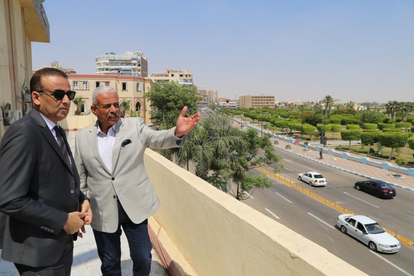 محافظ السويس يستقبل رئيس الاتحاد التونسي لكرة القدم