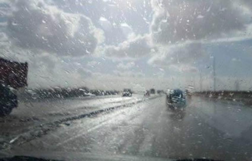 سقوط أمطار رعدية على بعض مدن دمياط