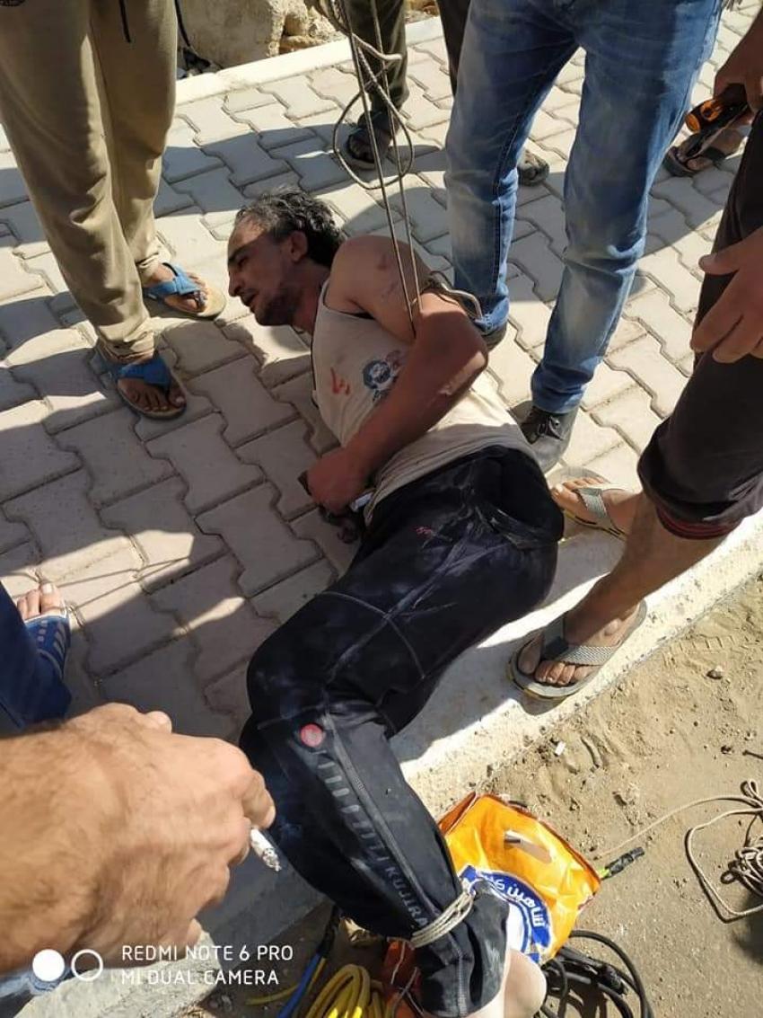 صور: لص الكابلات ..سرق عدلي منصور وسلموه للامن واليوم يسرق الملك عبد الله بالسويس