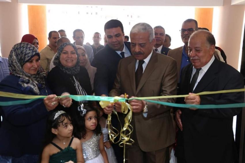 في أول يوم دراسة بالسويس صقر يفتتح مدرسة جديدة ومبنى تعليمي وأعمال تطوير المدرسة البحرية العسكرية