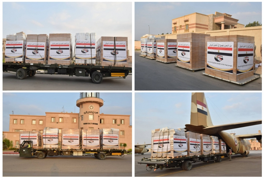 مصر ترسل مساعدات عاجلة لدولة العراق