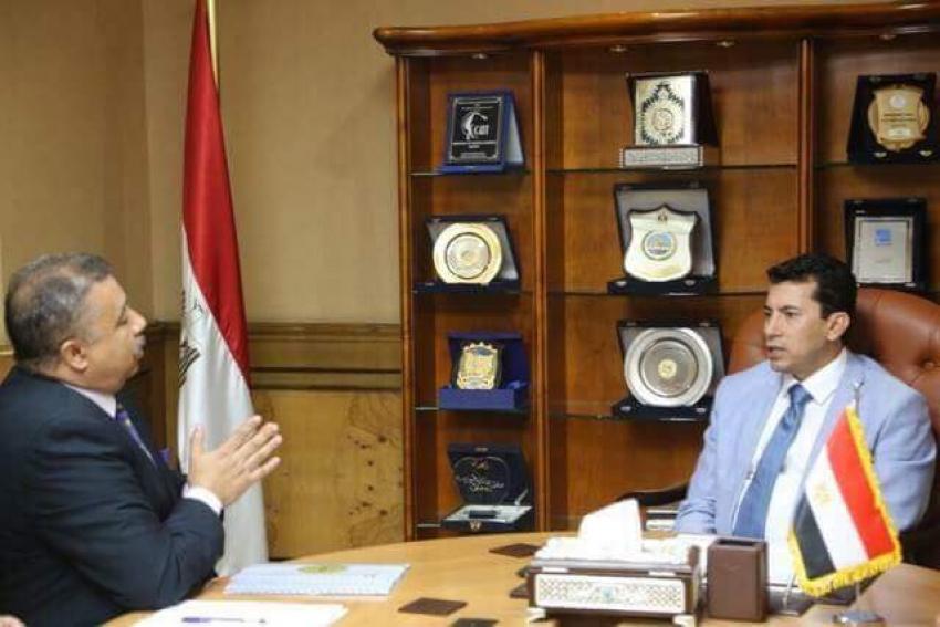 وزير الشباب يبحث مع رئيس الاتحاد العام للكشافة استعدادات استضافة مصر مؤتمر الكشفي العالمى بشرم الشيخ