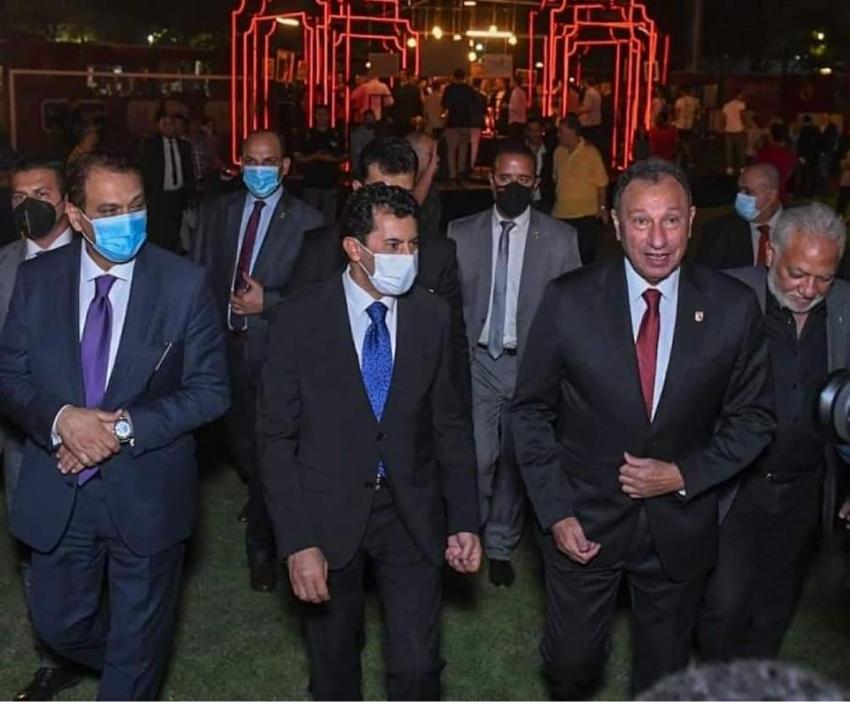 بالصور : صبحى  يشهد إحتفالية النادى  الأهلي بـتدشين النجمة العاشرة