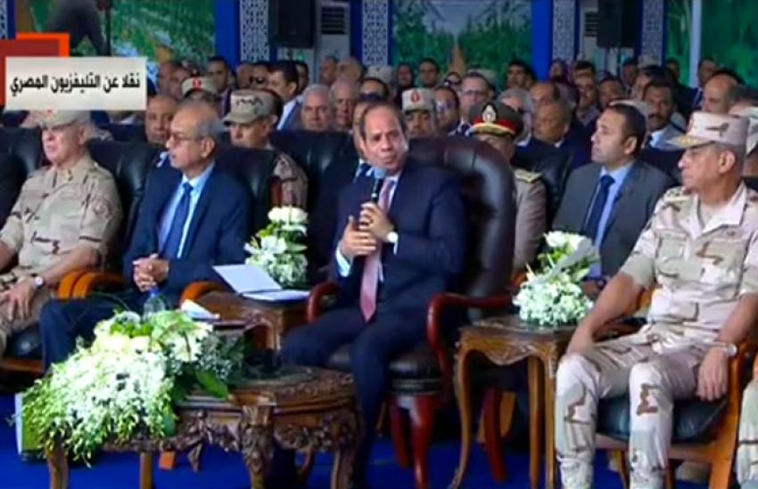 السيسي: البحيرات المصرية ستعود ولاتنازل عن أراضي الدولة و يكلف الجيش والشرطة بحل مشكلات محور المحمودية خلال يومين