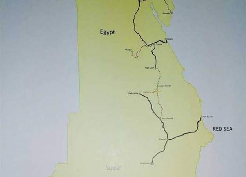 إنشاء خط سكة حديد بطول 600 كيلو متر لربط مصر بالسودان