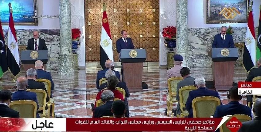 السيسي يعلن مبادرة سياسية لإنهاء أزمة ليبيا محذراً من التمسك بالخيار العسكري لحل الأزمة