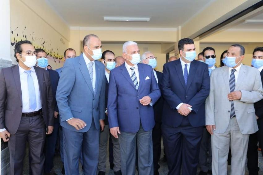 محافظ السويس يفتتح مدرسة الشيخ خليفة بن زايد بمدينة السلام 2