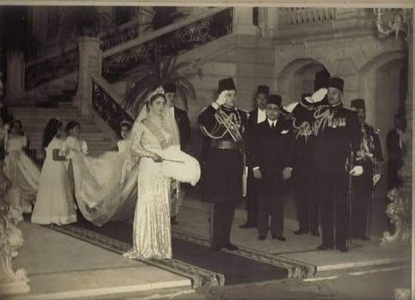 """ذكري زفاف """" الملك فاروق والملكة فريدة """"  الخميس 20 يناير  1938"""