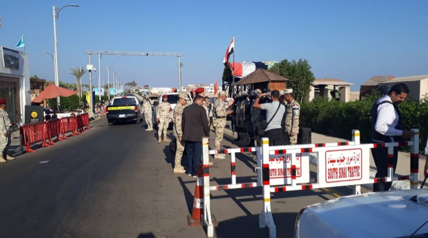 قائد الجيش الثالث يتفقد كمائن مدينة شرم الشيخ