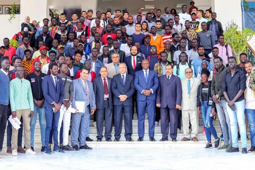 رئيس جامعة السويس يستقبل سفير جمهورية جنوب السودان