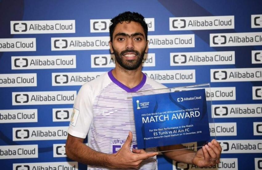 الشحات يحصل على جائزة افضل لاعب فى المباراة