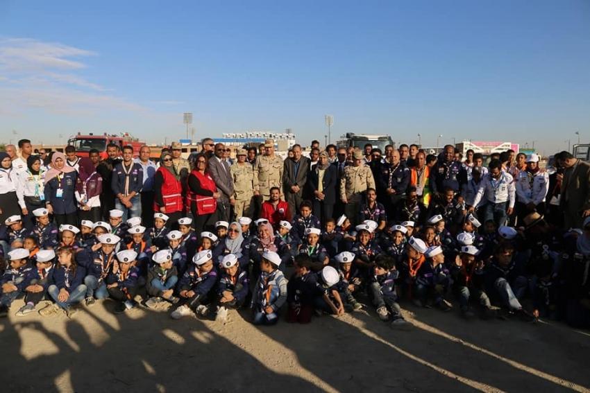 في اليوم الثاني للتدريب العملي المشترك تفقد معسكر الايواء بالكشافة البحرية بحي السويس
