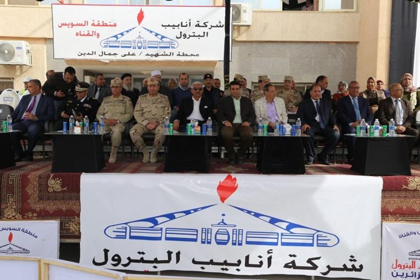ختام التدريب العملي المشترك لمجابهة الأزمات والكوارث صقر 56 بمحافظة السويس