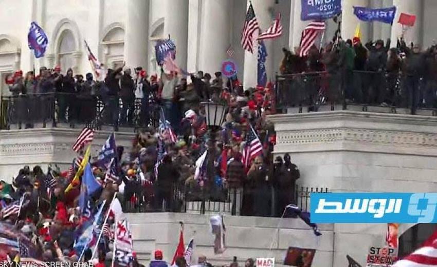 إعلان حظر التجول في واشنطن.