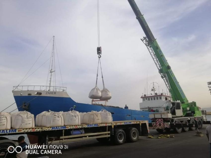 تداول 5 الاف و829 طن بضائع عامة ومتنوعة بموانئ البحر الاحمر