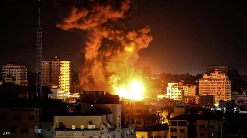 طائرات إسرائيليه تقصف غزه والمقاومة ترد بعدة صواريخ